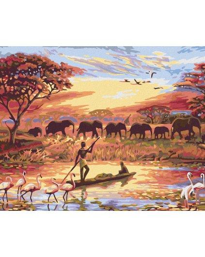Maľovanie podľa čísel - AFRICKÝ ZÁPAD SLNKA
