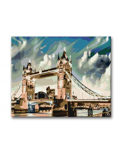 Maľovanie podľa čísel - OSVETLENÝ TOWER BRIDGE