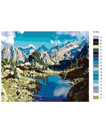 Maľovanie podľa čísel - JAZIERKO V HORÁCH