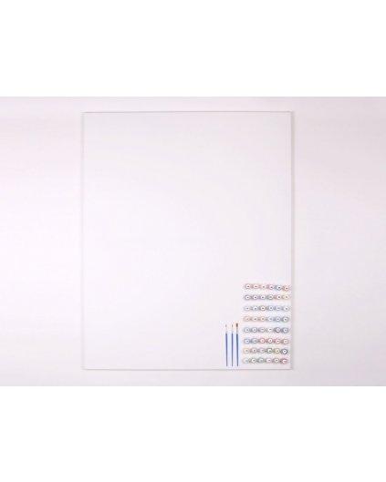 ČISTÉ NEPOTISNUTÉ PLÁTNO 80x100 cm + SADA 48 FARIEB