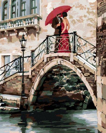 Maľovanie podľa čísel - PÁR NA MOSTE V BENÁTKACH (RICHARD MACNEIL)