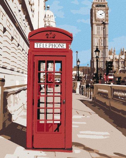 Maľovanie podľa čísel - TELEFÓNNA BÚDKA V LONDÝNE