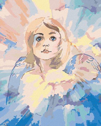 Maľovanie podľa čísel - MALÝ VIANOČNÝ ANJEL