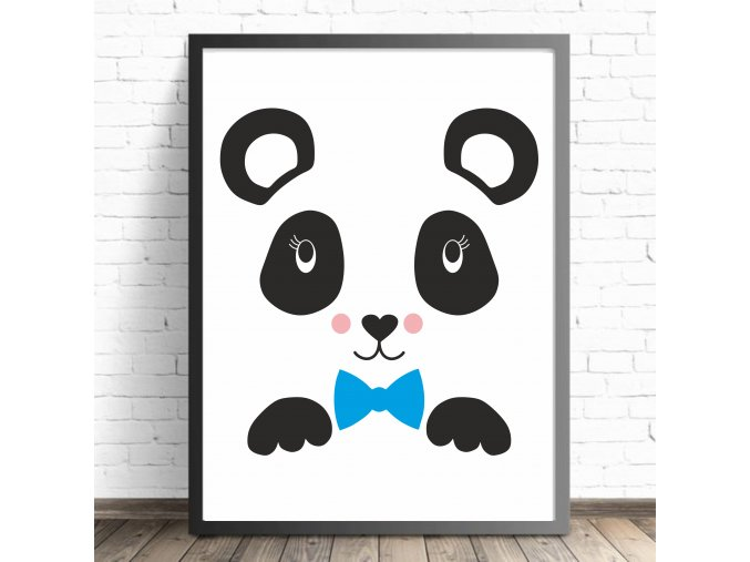 Plakát - Panda Fanda (Formát M (30x40cm) S rámečkem)