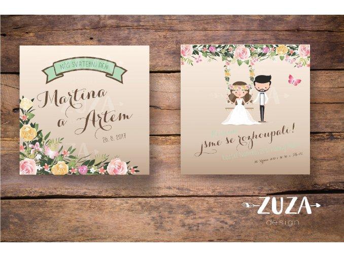 Svatební oznámení no.48 (Varianty produktu Štítek kulatý 5cm)