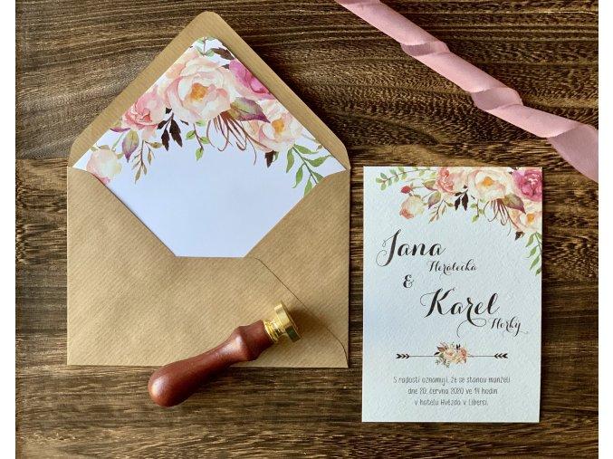 Svatební oznámení no.50 (Varianty produktu Štítek kulatý 5cm)