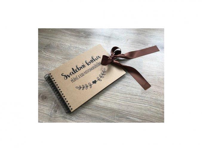 Svatební kniha Přání a rad novomanželům - rustic - Hnědá