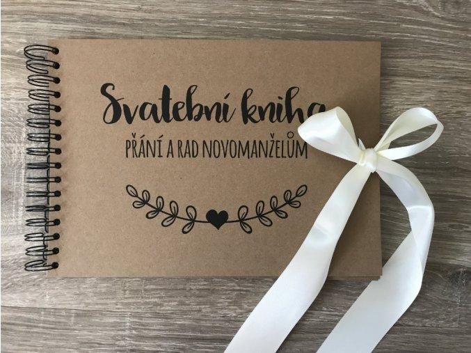 Svatební kniha Přání a rad novomanželům - rustic - Krémová