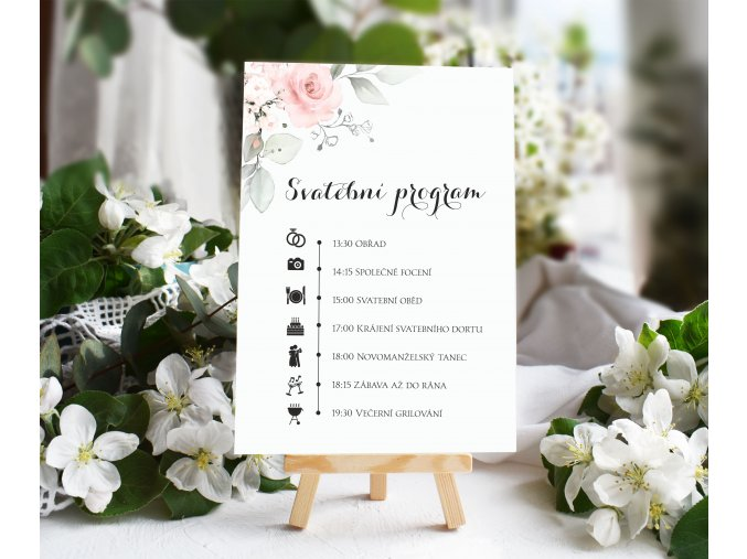 Svatební program (Rozměry DL(100x210mm))