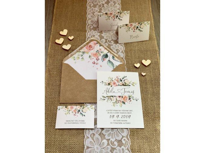 Svatební oznámení no.99 (Varianty produktu Štítek kulatý 5cm)