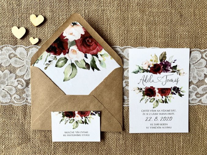 Svatební oznámení no.102 (Varianty produktu Štítek kulatý 5cm)