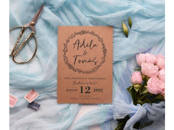 Svatební oznámení no.105 (Varianty produktu Štítek kulatý 5cm)