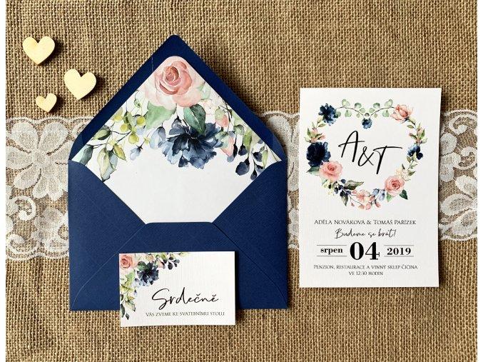 Svatební oznámení no.123 (Varianty produktu Štítek kulatý 5cm)