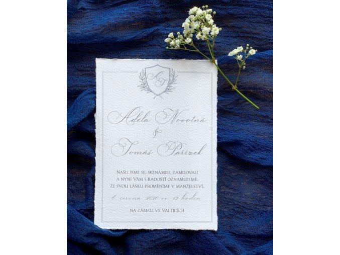 Svatební oznámení no.130 (Varianty produktu Štítek kulatý 5cm)