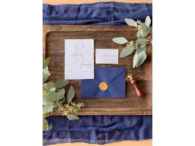 Svatební oznámení no.129 (Varianty produktu Štítek kulatý 5cm)
