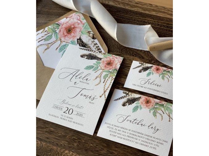Svatební oznámení no.131 (Varianty produktu Štítek kulatý 5cm)