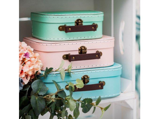 pastel retro suitcases