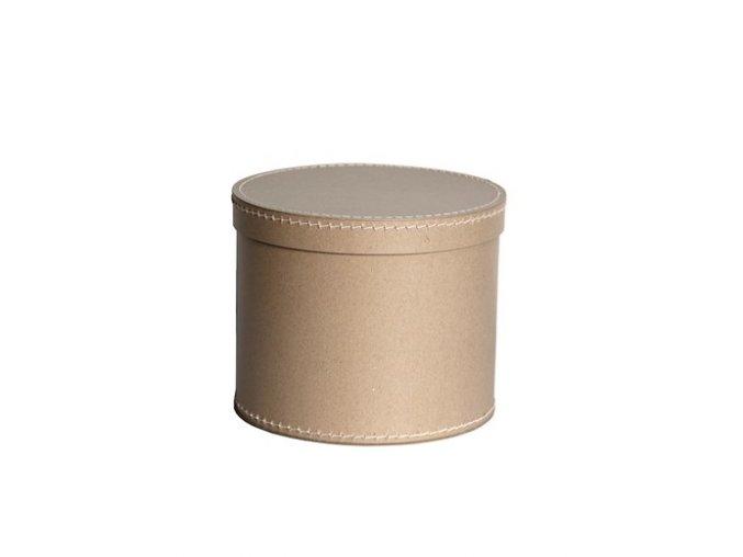Krabice kulatá - 25 cm natural