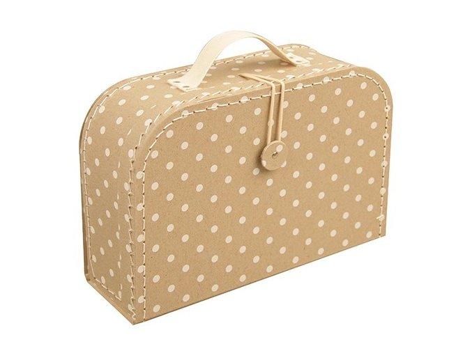 kazeto detsky kufrik s puntiky vel 30 cm 1