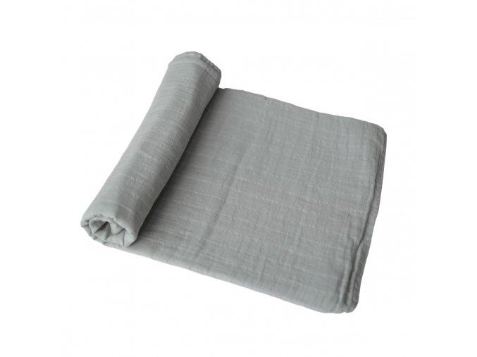 Mushie muselinova zavinovacka bio organicka bavlna Belgian Grey