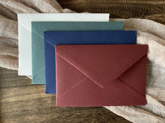 Obálky z ručního papíru sada 10ks