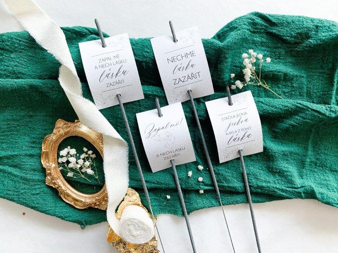 Svatební štítky na prskavky ELEGANT