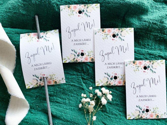 Svatební štítky na prskavky CLASSIC