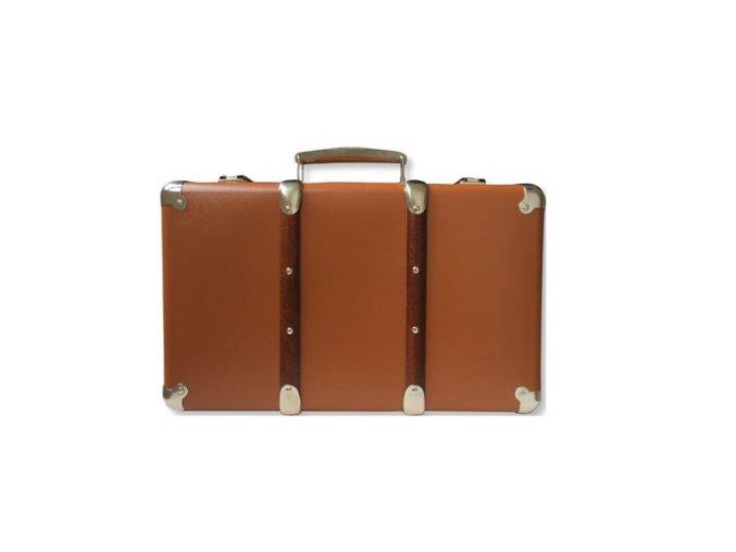 Nýtovaný kufr 30cm hnědý