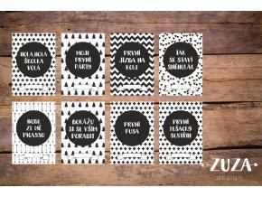 POKRAČOVACÍ Milníkové kartičky black&white 35ks (UNISEX)