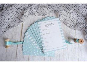 Milníkové kartičky PRO MIMINKO mentolková - 35ks (CHLAPEČEK) (Dárková krabička Milníkové kartičky bez dárkové krabičky)