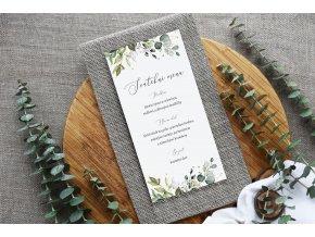 Svatební menu (Velikosti DL (100x210mm))