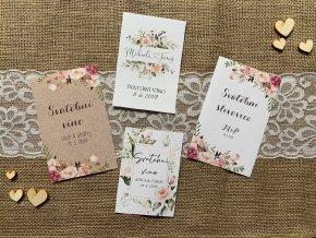 Svatební samolepící etiketa (Rozměry 75x110mm)