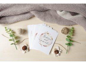 TĚHOTENSKÉ milníkové kartičky BOHO UNI