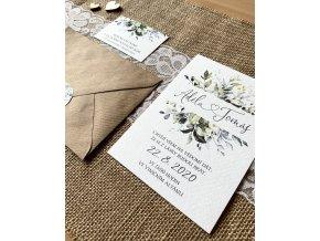 Svatební oznámení no.116 (Varianty produktu Štítek kulatý 5cm)