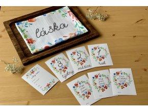Milníkové kartičky - květinky - PRO MIMINKO - 35ks (UNISEX) (Dárková krabička Milníkové kartičky bez dárkové krabičky)