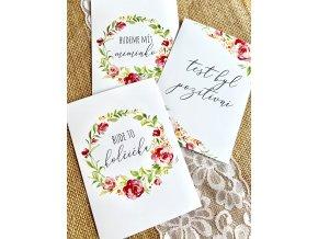 TĚHOTENSKÉ milníkové kartičky štěstí 35ks