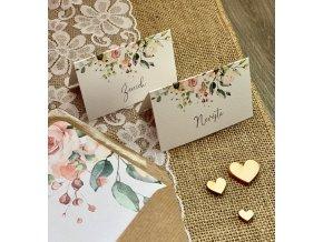 Svatební jmenovky v designu oznámení (Varianta Visačky beze jmen)
