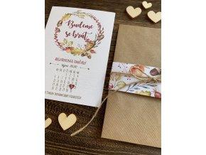 Svatební oznámení no.145 (Varianty produktu Štítek kulatý 5cm)