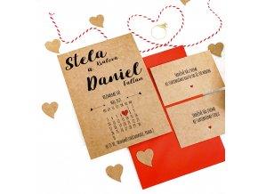 Svatební oznámení no.32 (Varianty produktu Svatební oznámení)