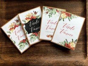 Vánoční přání s obálkou