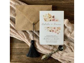 Svatební oznámení no.148 (Varianty produktu Štítek kulatý 5cm)