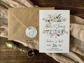 Svatební oznámení no.150 (Varianty produktu Štítek kulatý 5cm)
