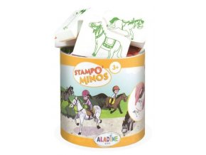 Razítka s příběhem Aladine Stampo MINOS - Koníci