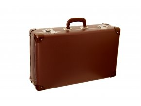 696 nytovany kufr 55cm tmave hnedy bez lati