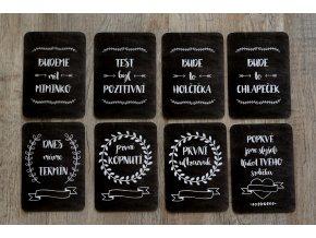 TĚHOTENSKÉ milníkové kartičky chalkboard - 30ks