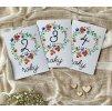 POKRAČOVACÍ Milníkové kartičky květinky 35ks (UNISEX) (Dárková krabička Milníkové kartičky bez dárkové krabičky)