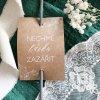 Svatební štítky na prskavky ELEGANT KRAFT