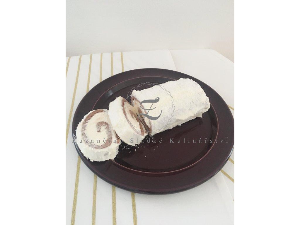 Bezlepková kakao-kokosová roláda