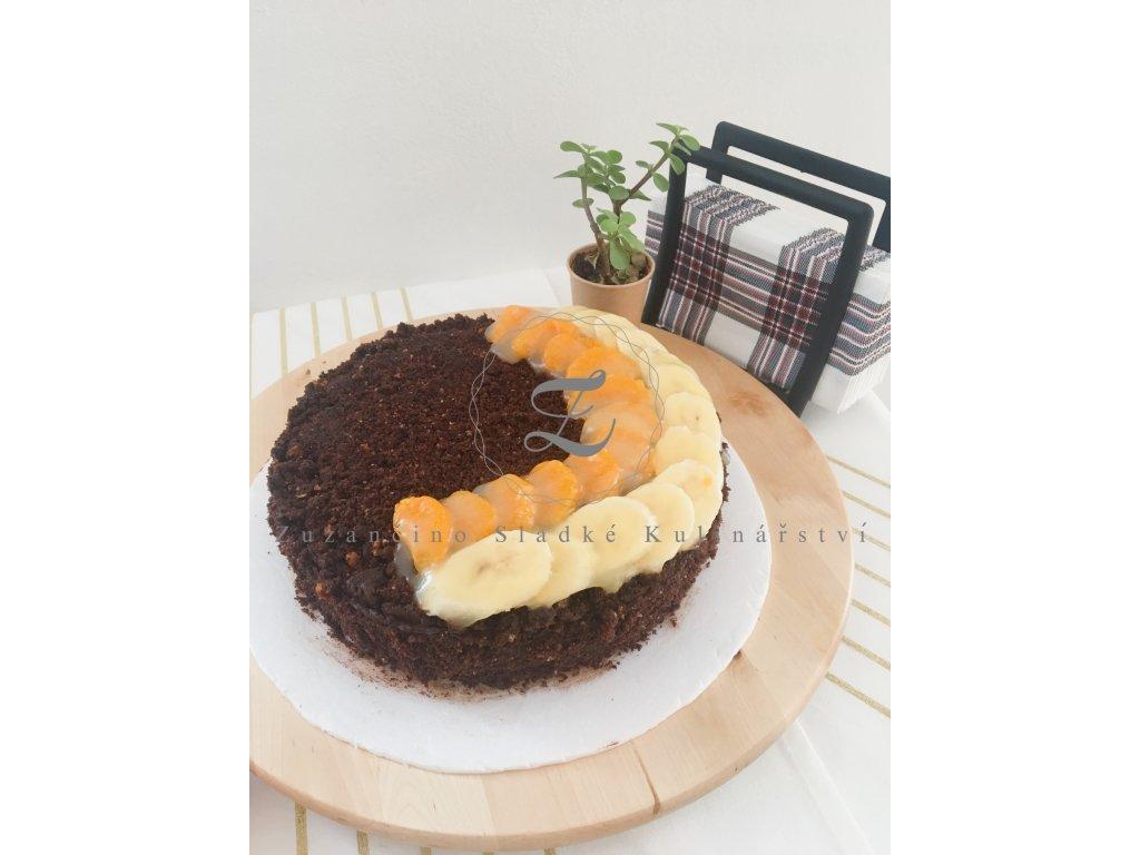 Veganský čokoládový dort