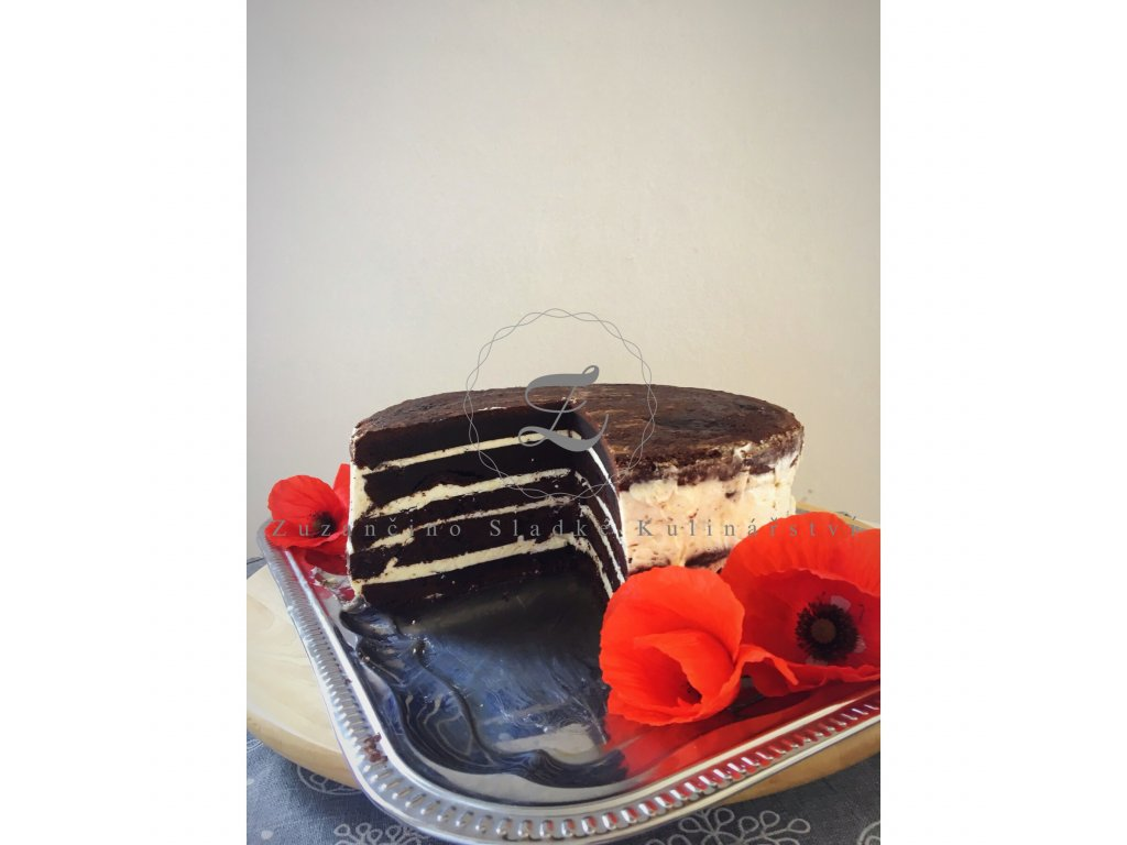 Čokoládový dort s francouzským krémem